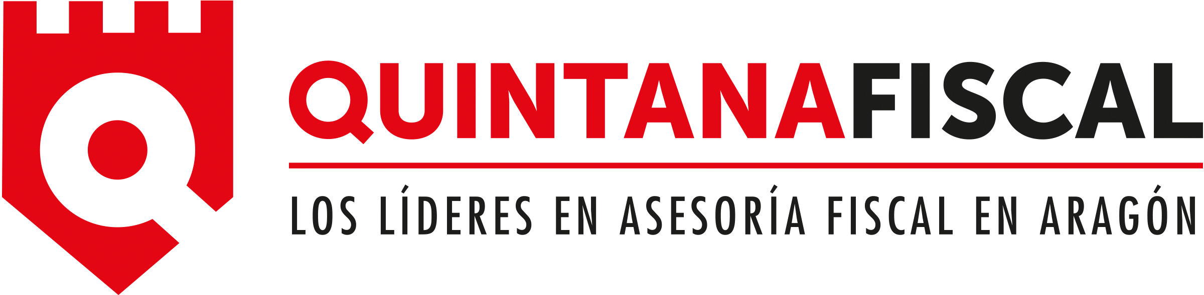QUINTANA Fiscal. Logo Marca Horizontal. Gran formato. Transparente
