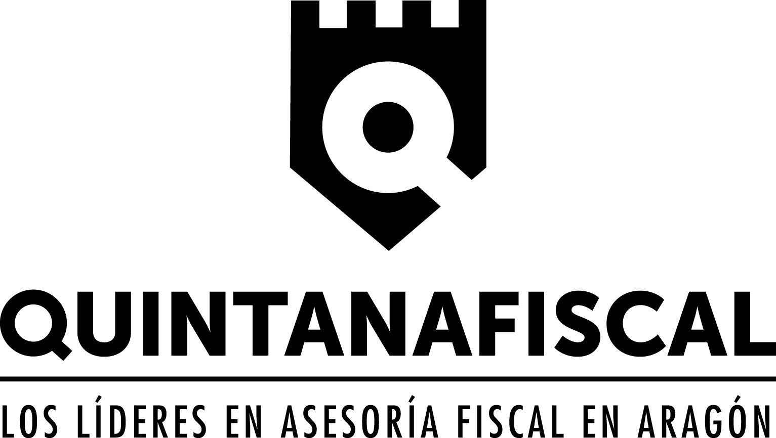 QUINTANA Fiscal. Logo Marca Negro. Gran formato