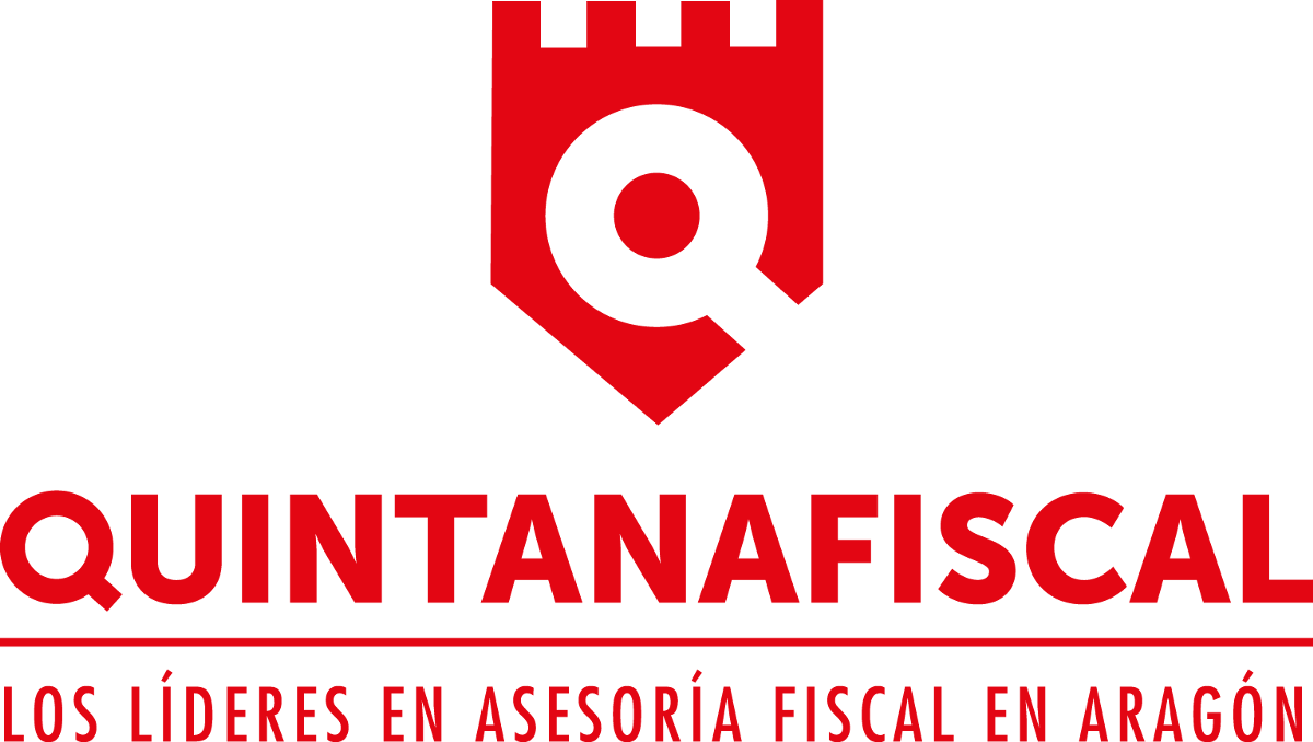 QUINTANA Fiscal. Logo Marca Negro. Gran formato. Transparente
